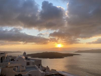 冬のサントリーニ島②【絶景の夕陽】