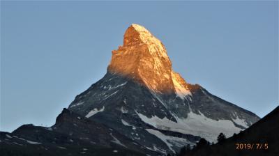 スイス 鉄道で一回り17日間(7)ツェルマット マッターホルン絶景と花のハイキング