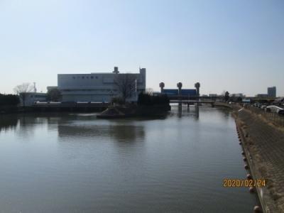 松戸市の松戸排水機場・坂川放水路