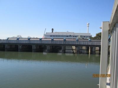 我孫子市の北千葉揚排水機場・利根川取水口