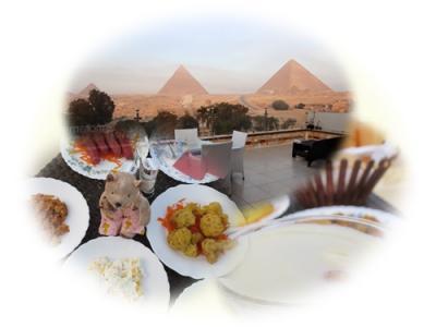 8年ぶり8度目のエジプト8日間(10)パノラマ ピラミッズ インの朝食は、もはや大食い大会か