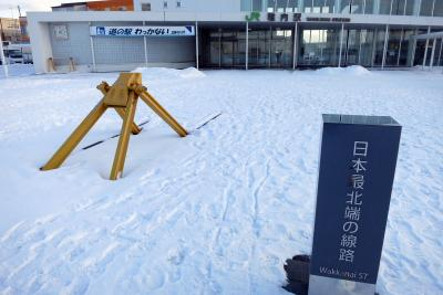 ANA空港巡り その40 (初)稚内 2020冬の旅 1日目:羽田から稚内へ直行便で