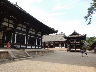 初秋の京都と奈良の旅 三日目【3】唐招提寺、夜の散歩・興福寺と東大寺のライトアップ