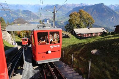 シニアー夫婦のスイスゆっくり旅行30日  (28)ピラトゥス山に上がりました(続10月14日)