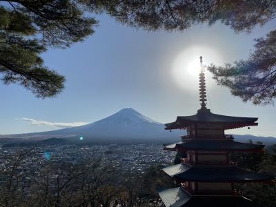 新倉山浅間神社と富士山