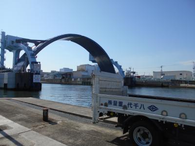 尻無川水門の閉鎖