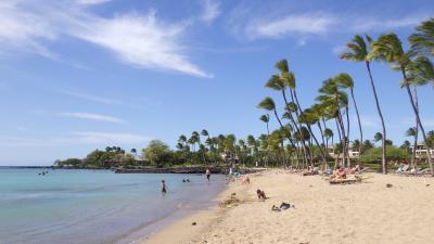 初めてのハワイ島3泊5日【1日目】ワイコロアビーチマリオットの周辺、プール、ビーチ、夕日、星空
