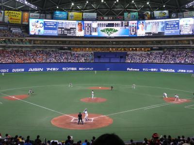 名古屋ドーム中日VS巨人観戦とドーミーインPREMIUM名古屋栄宿泊