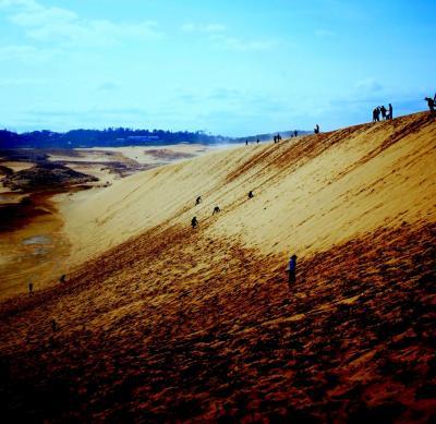 滝。猿。温泉。〆砂丘。岡山鳥取。鳥取砂丘編
