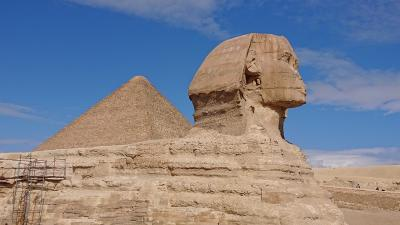 悠久の時が流れるエジプト・ナイル川クルーズ8日間の旅 (6)三大ピラミッド&スフィンクス