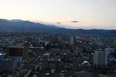 十二階展望室からの福島見晴らし