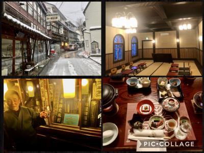 雪の遣いが往く北信の旅 その④渋温泉 渋温泉街散策と歴史の宿 金具屋文化財巡りと夕食
