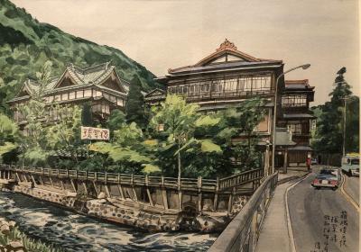 箱根塔ノ沢に老舗旅館を訪ねる