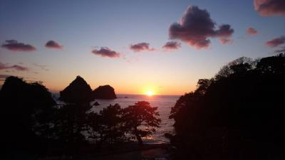 夕陽を観に