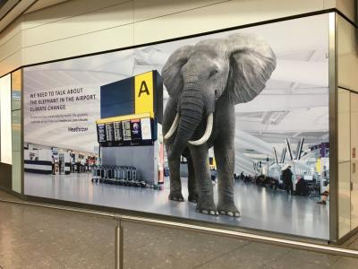 ロンドン・ナイロビ出張(その57) 14日目-6 ヒースロー空港 にてターミナル移動、帰国便にチェックイン!