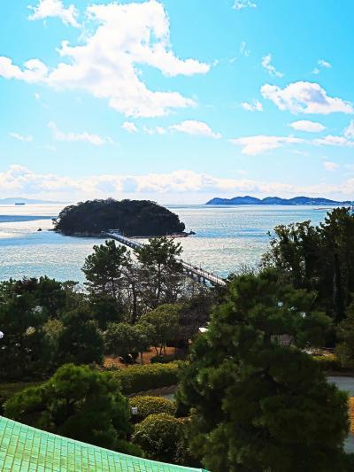蒲郡クラシックホテル 桜の間-フレンチランチー賞味 ☆二階テラス-竹島/三河湾の眺望よく