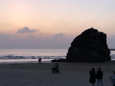 【日本海の旅】鳥取→島根→山口→福岡 西日本縦断④(1・2日目)夕暮れの稲佐の浜