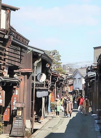 飛騨高山-2 古い町並み-さんまち通り〔のがわ〕昼食 ☆新型コロナ*自粛で人出少なく