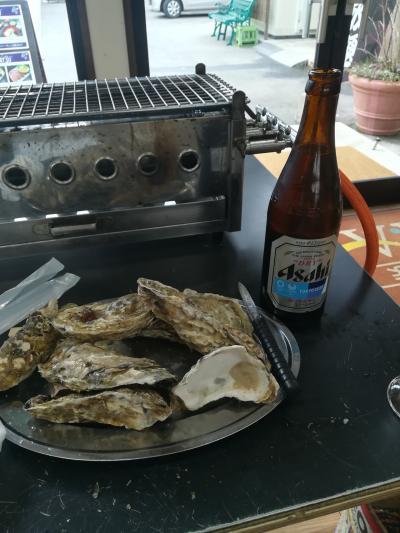 『隣の客はよく牡蠣食う客だ!』松島で牡蠣を食べる。