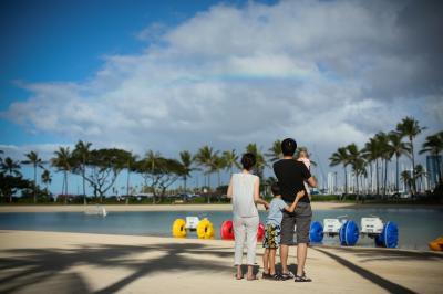 0歳児を連れて海外へ!2回目のハワイ:Day1 フライング・ホヌに乗る