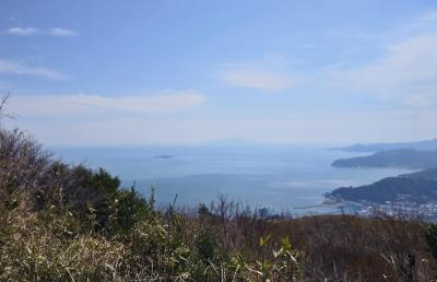 岩戸山頂から見る熱海