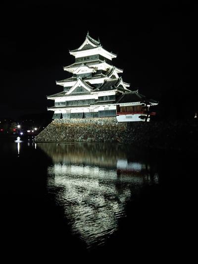 夜の松本城を見てきました。