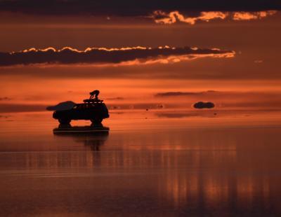 蒼き氷河のパタゴニアと雨季のウユニ塩湖  8日目 ウユニ塩湖 初日 夕陽・銀河 編