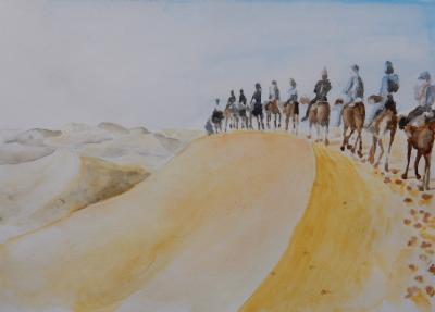 ポケットから出てきた砂漠の砂  メルズーガ大砂丘 モロッコ ④