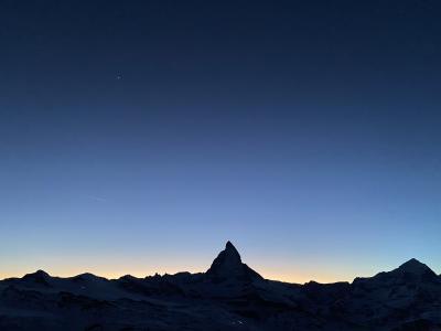 スイス ツェルマット スキー = 4.ゴルナーグラード側スキー・夜景編 =