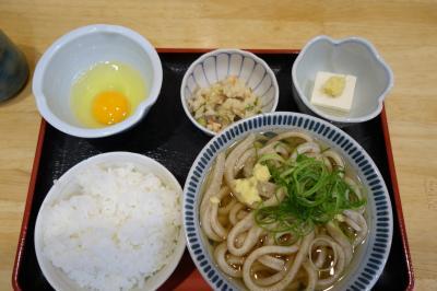20200320-1 大阪 うどん讃くさんの朝定食