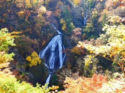 亀の滝・米の粉の滝・七つ滝・月山朝日ダムの紅葉