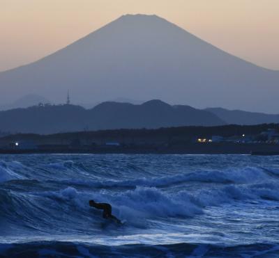 春風駘蕩 茅ヶ崎海岸