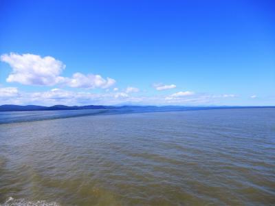 途中下船の旅 ビクトリアからバンクーバー編 ジョージア海峡では海面が2色に分かれていた