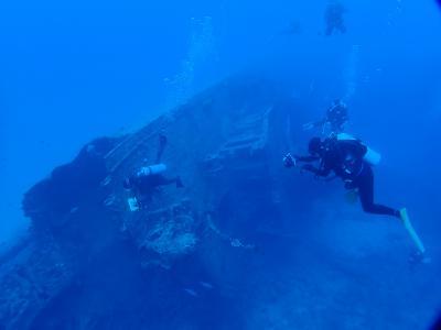 沖縄古宇利島で沈船ダイビングをしてきた