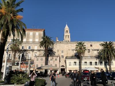 世界遺産スプリットは宮殿跡に住み着いてできた街