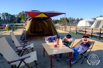 子連れ春キャンプ♪ ~THE FARMで農園キャンプ~