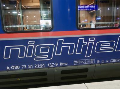 国際寝台列車「ナイトジェット」でオーストリアからドイツへ