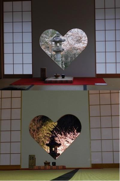 ハートの窓で有名になった『正寿院』で桜ライトアップ!♪(京都府宇治田原町)