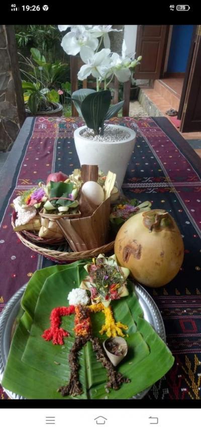 バリ島中でコロナ退散の儀式