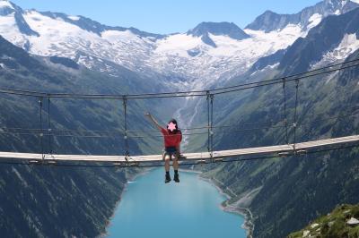 はじめてのチロルでハイキング④絶景のつり橋へ