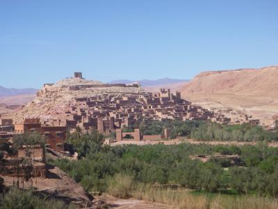 コロナ騒動ど真ん中モロッコ一人旅③ ~砂漠の要塞・アイトベンハッドゥが見えるリヤドに宿泊~