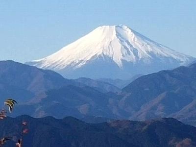「高尾山・小仏城山 」登山の「富士山展望」
