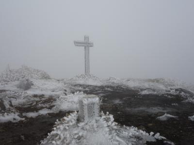 2020 岡山県 父子2人旅~ 那岐山(1,255m) ~ 雪山登山編 ~ 爆風荒れ狂う頂上一帯、極寒 ~ 今回も修行でした