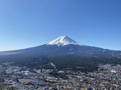 2020年2月 河口湖からデカい富士山を見る