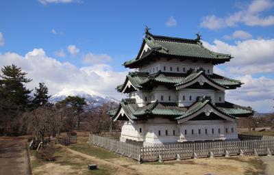 東北で唯一の現存天守を誇る弘前城と堀越城登城