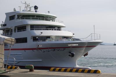 20200406-6 五島 フェリーオーシャンで奈留島から福江島に戻り