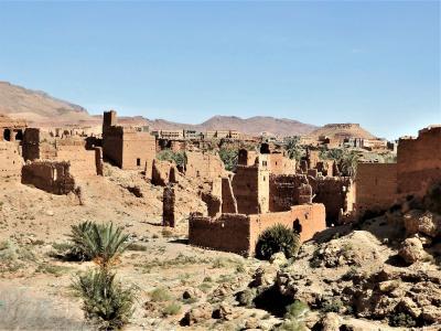 baba友と巡るモロッコ周遊2400㎞の旅【10】5日目(カスバ街道・トドラ渓谷)