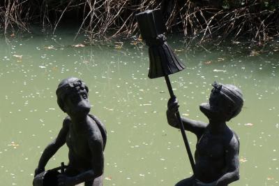 20200407-2 五島 福江川の河童達との花見とか