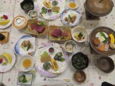 焼津黒潮温泉の「やいづマリンパレス」に宿泊して温泉と食事を楽しむ