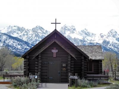 2019年5月 アメリカ4日目 その3 グランドティートン トランスフィギュレーション教会と牧場